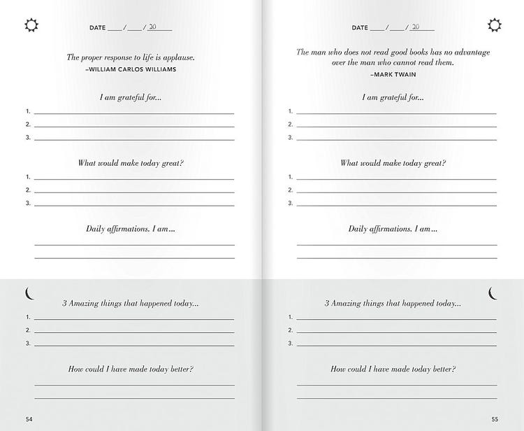 5 Minute Journal Template